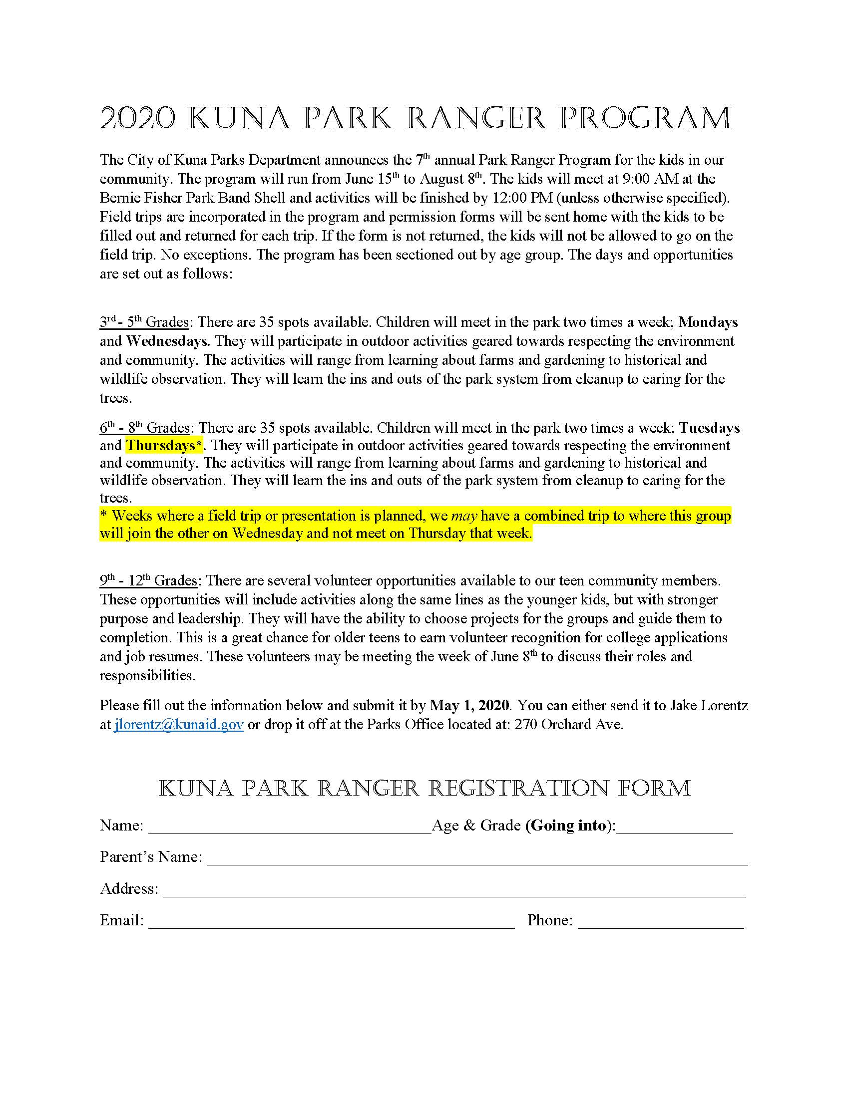 Park Rangers 2020 Registration Form (JPEG)