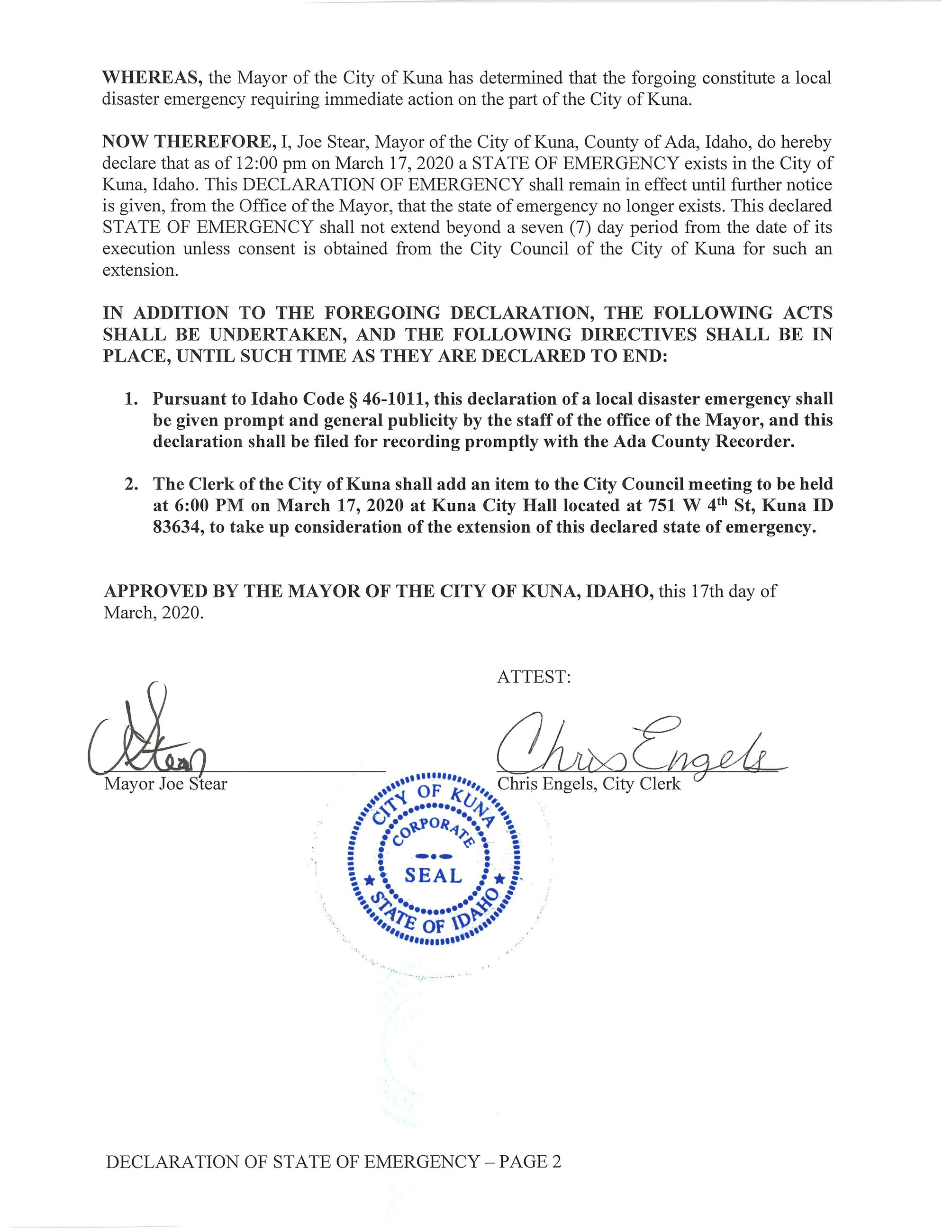 DECLARATION OF EMERGENCY - From The Office Of Mayor Joe Stear - 03.17.2020_Page_2